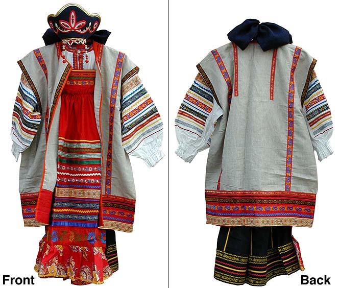 RUSSIAN TRADITIONAL GIRL COSTUME RYAZAN STYLE