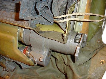 Parachute actuators cocking mechanism. Click to enlarge.